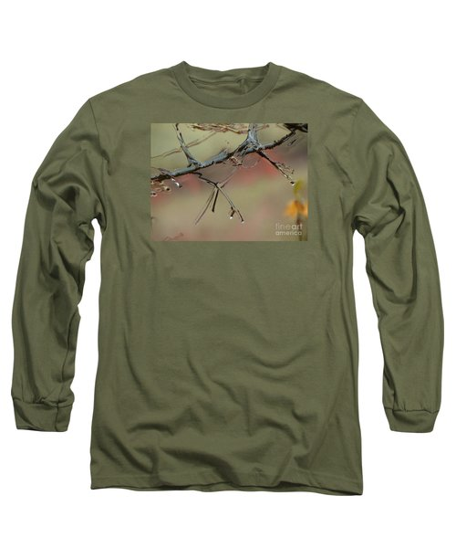 Branch With Water Abstract Long Sleeve T-Shirt by Craig Walters