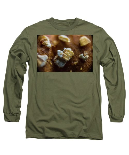 Long Sleeve T-Shirt featuring the photograph Bread Macro Food by David Haskett