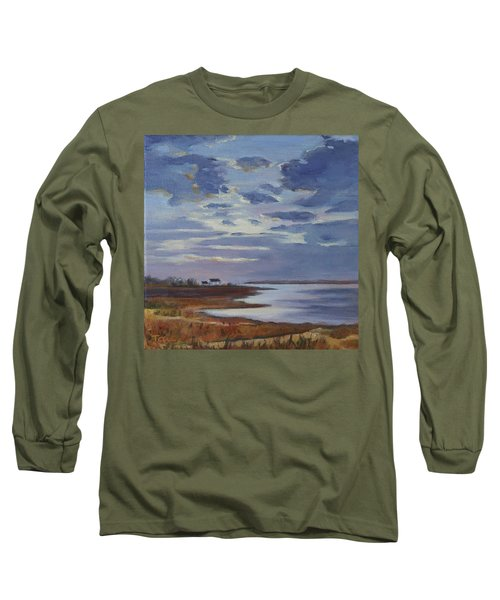 Breaking Up The Clouds Long Sleeve T-Shirt by Trina Teele