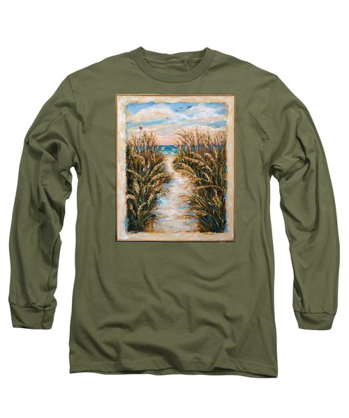 Breezy Sea Oats Long Sleeve T-Shirt by Linda Olsen