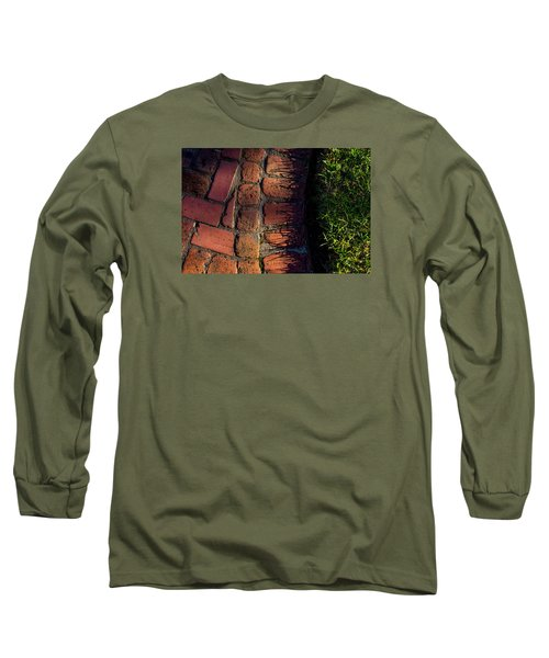 Brick Path In Afternoon Light Long Sleeve T-Shirt