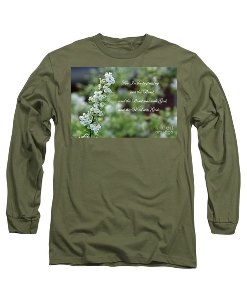 Bridal Wreath Christian Art Long Sleeve T-Shirt