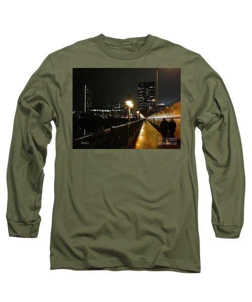 Long Sleeve T-Shirt featuring the photograph Bridge Into The Night by Felipe Adan Lerma
