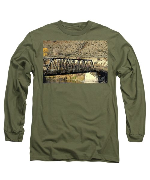 Long Sleeve T-Shirt featuring the photograph Bridge Over The Thompson by Ann E Robson