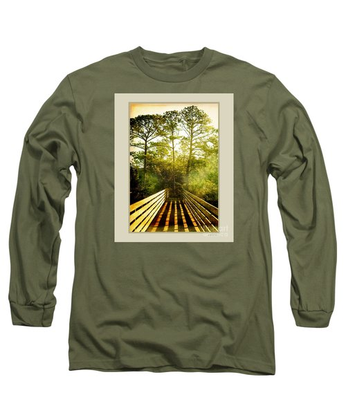Bridge Shadows Long Sleeve T-Shirt by Linda Olsen