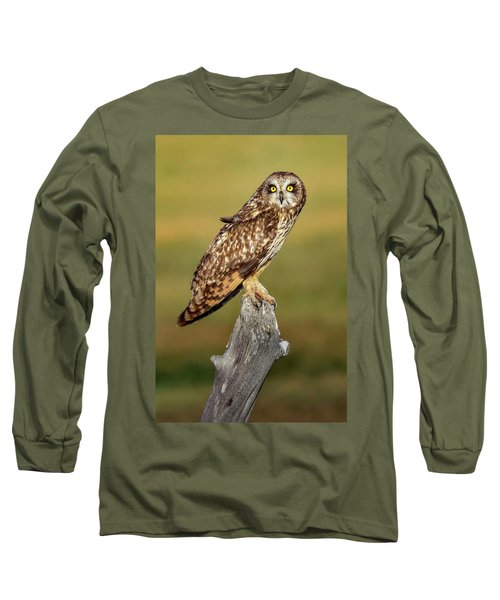 Bright-eyed Owl Long Sleeve T-Shirt