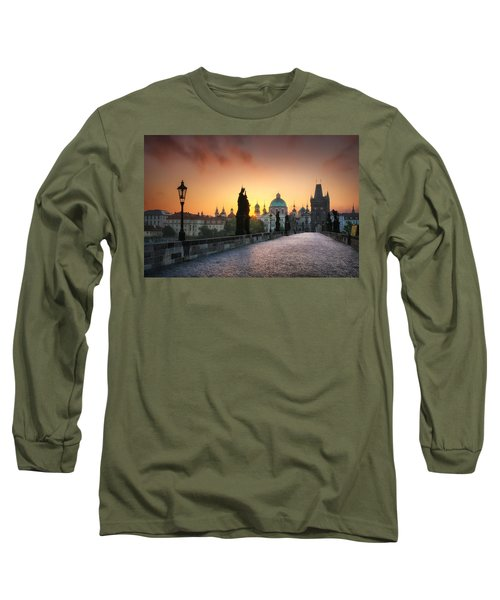 Bright Morning In Prague, Czech Republic Long Sleeve T-Shirt