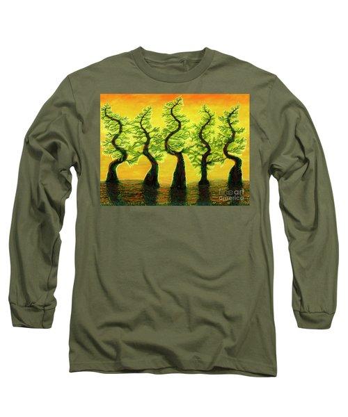 Bright Moss Hidden Bunnies Long Sleeve T-Shirt