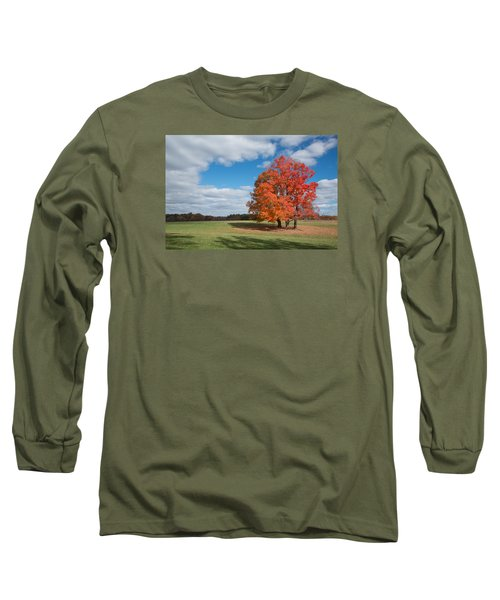 Bright Orange Tree In Va. Long Sleeve T-Shirt