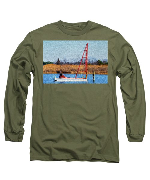 Bright Paintery Barge Long Sleeve T-Shirt