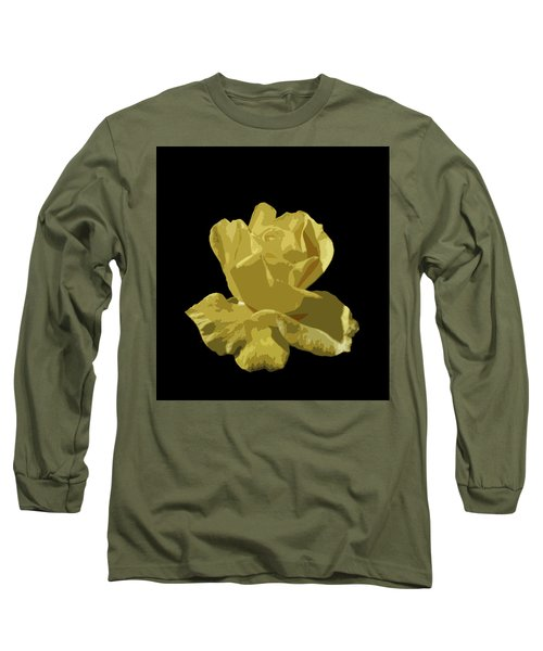 Bright Yellow Beauty Long Sleeve T-Shirt by Laurel Powell