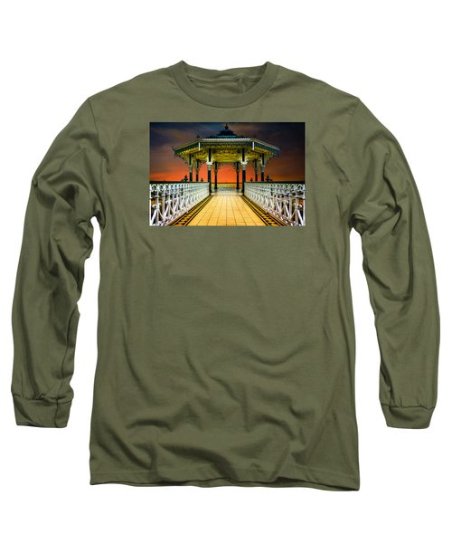 Long Sleeve T-Shirt featuring the photograph Brighton's Promenade Bandstand by Chris Lord