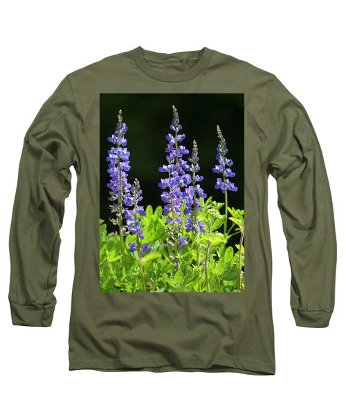 Long Sleeve T-Shirt featuring the photograph Brilliant Lupines by Elvira Butler