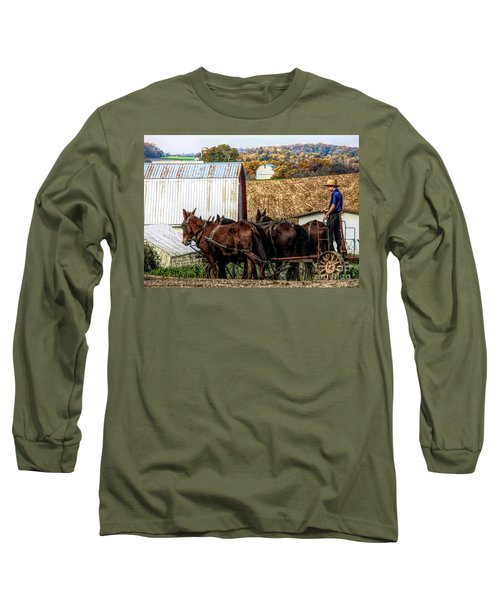 Bringing It Home In Lancaster County, Pennsylvania Long Sleeve T-Shirt