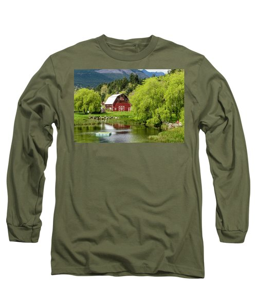Brinnon Washington Barn Long Sleeve T-Shirt by Teri Virbickis