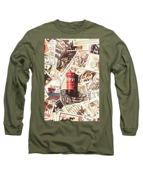 British Post Box Long Sleeve T-Shirt