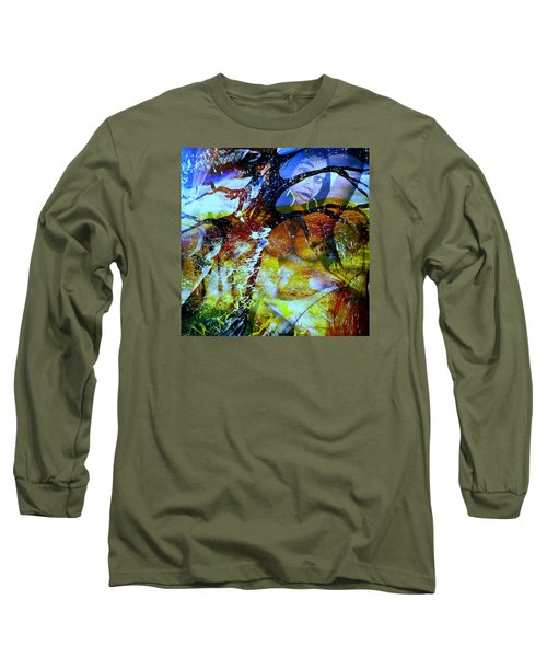 Long Sleeve T-Shirt featuring the mixed media Britney by Fania Simon