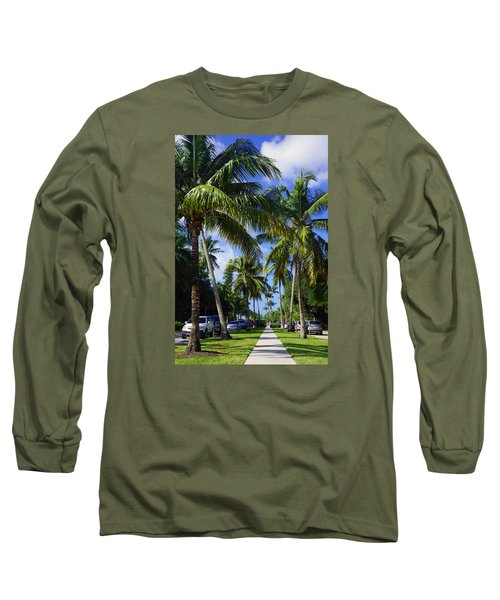 Long Sleeve T-Shirt featuring the photograph Broad Avenue South, Old Naples by Robb Stan