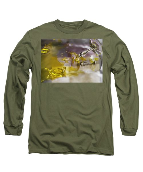 Long Sleeve T-Shirt featuring the photograph Broken Glass by Susan Capuano