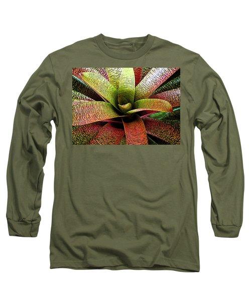Bromeliad Long Sleeve T-Shirt by Ranjini Kandasamy
