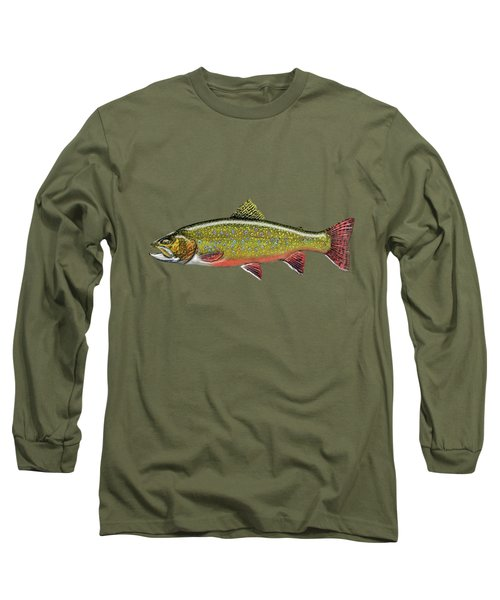 Brook Trout Long Sleeve T-Shirt by Serge Averbukh