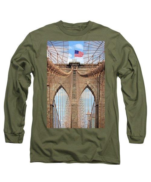 Long Sleeve T-Shirt featuring the photograph Brooklyn Bridge 2  by Emmanuel Panagiotakis