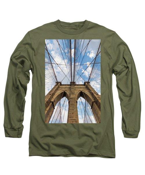 Long Sleeve T-Shirt featuring the photograph Brooklyn Bridge 3 by Emmanuel Panagiotakis