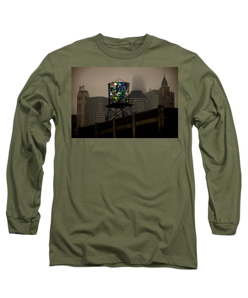 Long Sleeve T-Shirt featuring the photograph Brooklyn Water Tower by Chris Lord