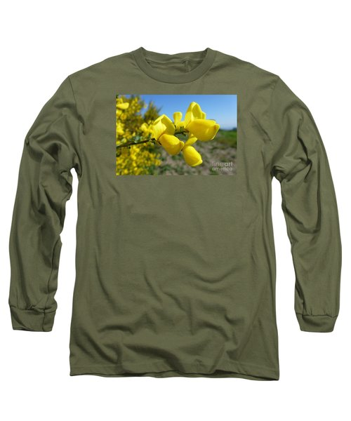 Broom In Bloom 4 Long Sleeve T-Shirt by Jean Bernard Roussilhe