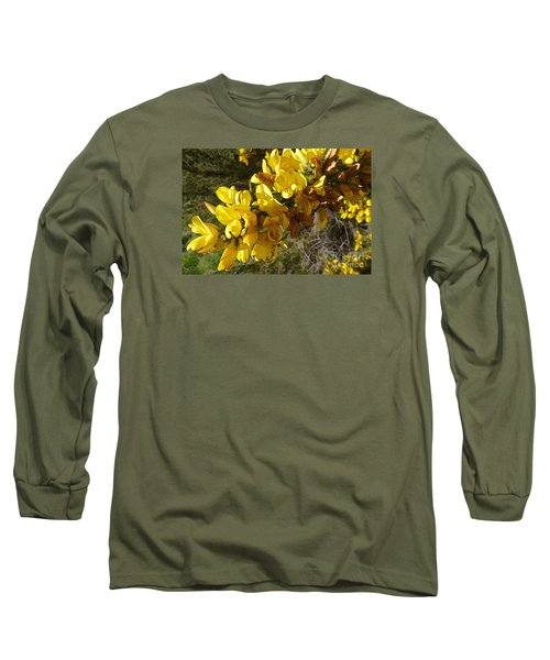 Broom In Bloom Long Sleeve T-Shirt by Jean Bernard Roussilhe