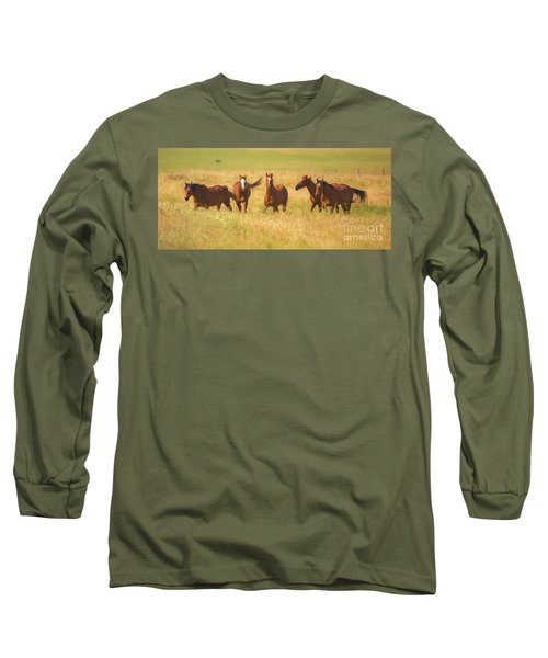 Long Sleeve T-Shirt featuring the photograph Brothers by Rima Biswas