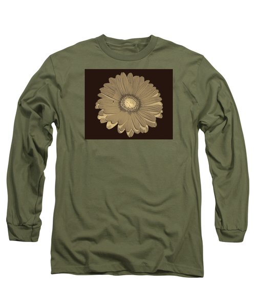 Long Sleeve T-Shirt featuring the digital art Brown Art by Milena Ilieva