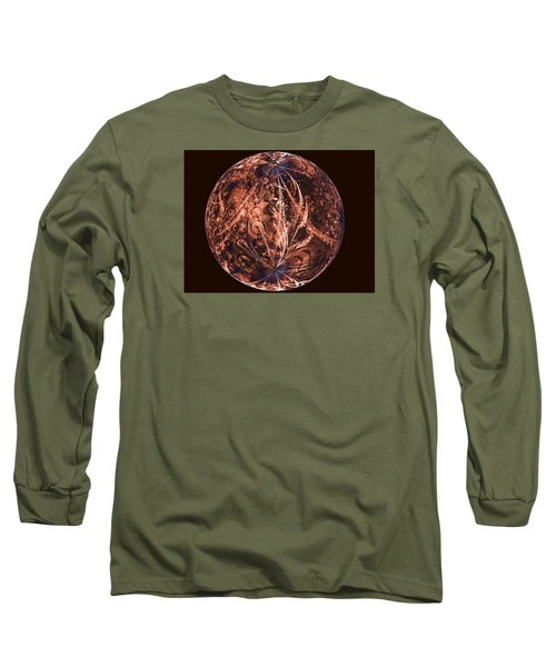 Brown Artificial Planet Long Sleeve T-Shirt by Ernst Dittmar