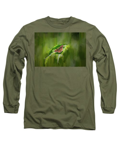 Brown Butterfly #h6 Long Sleeve T-Shirt