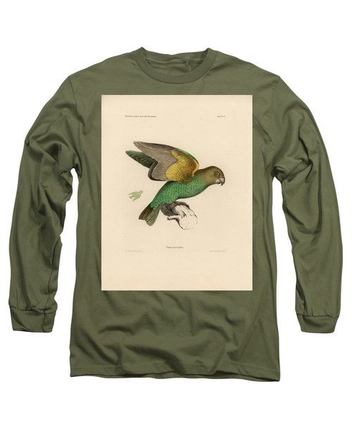 Brown-headed Parrot, Piocephalus Cryptoxanthus Long Sleeve T-Shirt by J D L Franz Wagner