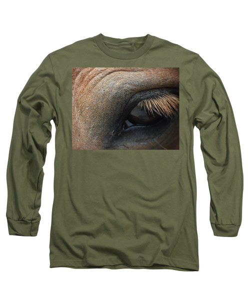 Brown Horse Eye Long Sleeve T-Shirt