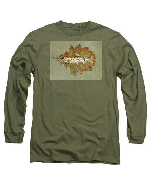 Brown Trout Long Sleeve T-Shirt by Ralph Root