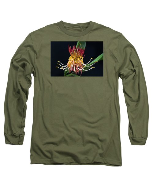 Brownea Macrophylla Tropical Flower Long Sleeve T-Shirt