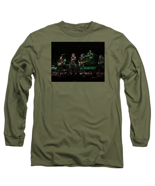 Bruce Springsteen And The E Street Band Long Sleeve T-Shirt by Melinda Saminski