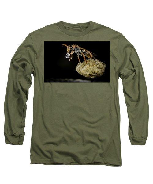 Bubble Blowing Wasp Long Sleeve T-Shirt