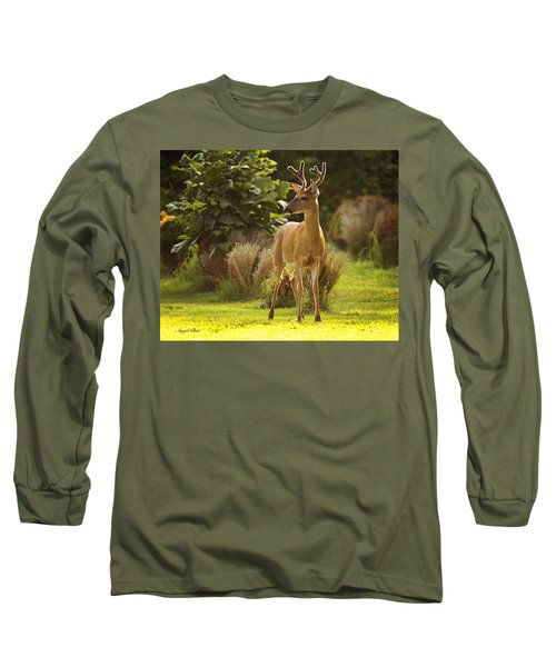 Long Sleeve T-Shirt featuring the photograph Buck by Angel Cher