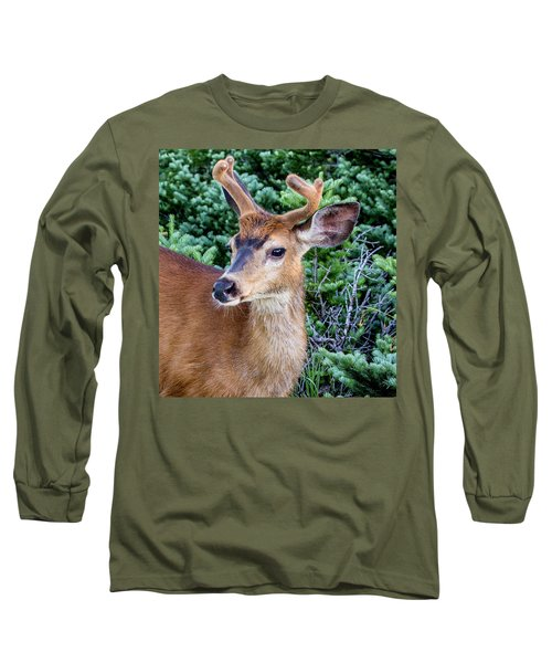 Buck In Velvet Long Sleeve T-Shirt