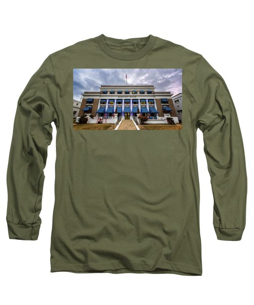 Long Sleeve T-Shirt featuring the photograph Buckstaff Bathhouse - Christmas by Stephen Stookey