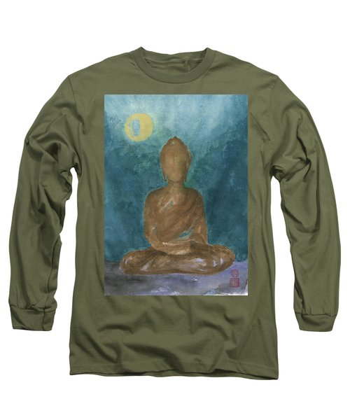 Buddha Abstract Long Sleeve T-Shirt