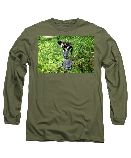 Buddha And Friend Long Sleeve T-Shirt by Cynthia Lassiter