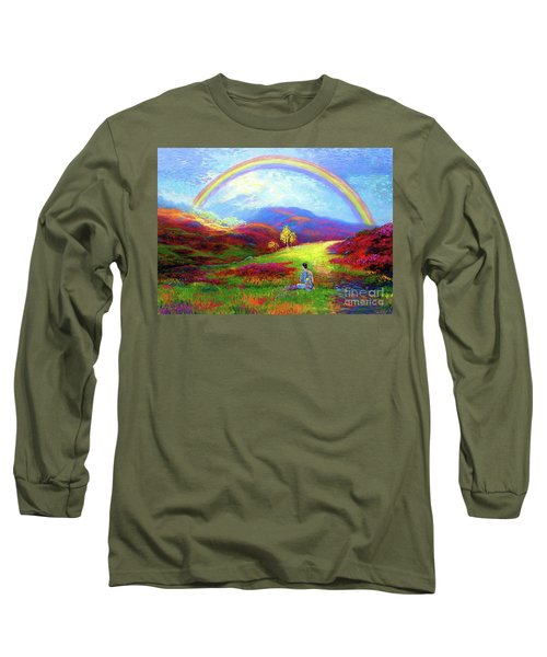Buddha Chakra Rainbow Meditation Long Sleeve T-Shirt
