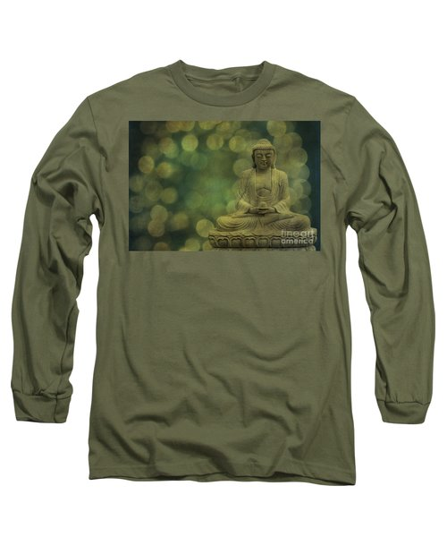 Buddha Light Gold Long Sleeve T-Shirt