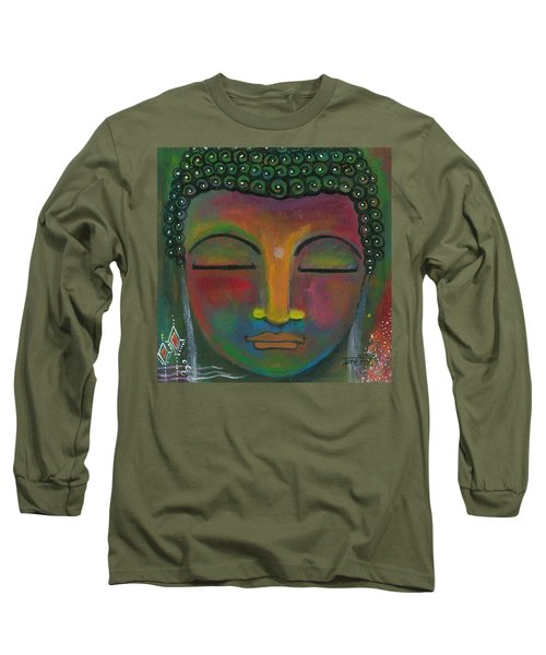 Long Sleeve T-Shirt featuring the painting Buddha Painting by Prerna Poojara
