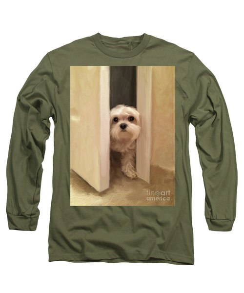 Long Sleeve T-Shirt featuring the photograph Hello by Lois Bryan