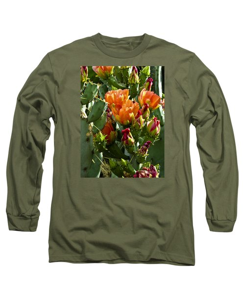 Buds N Blossoms Long Sleeve T-Shirt by Kathy McClure